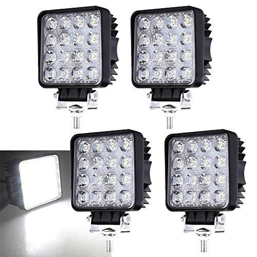 4 X 48W LED Offroad Scheinwerfer Weiß 12V 24V Arbeitsscheinwerfer SUV, UTV, ATV Flutlicht 6500K, 4320lm, Wasserdicht - Wasserdichte Led-scheinwerfer
