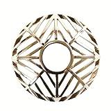 Yankee Candle 1521517 Arrow Chrome Kerzenaufsatz, Metall, silber, 8 x 8 x 3,5 cm