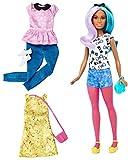 Mattel Barbie DTF05 Barbie Fashionistas Style Puppe und Moden mit Blau-Lila Haaren