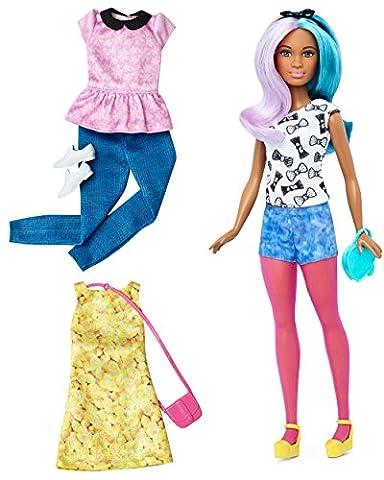Mattel Barbie DTF05 Barbie Fashionistas Style Puppe und Moden mit