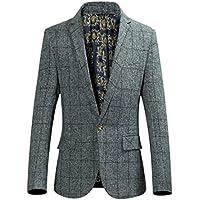 Hzcx Fashion da uomo con stampa a righe One Button