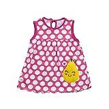 Kleid Baby Blumen Print Cartoon Weiß, Riou Babykleid Baby Trägershirt Kleid Kleinkind-Nette Baby-Baumwollblumen-Kind-Punkt-Gestreifte T-Stücke kleiden T-Shirt Weste (0-24M, Hot F)