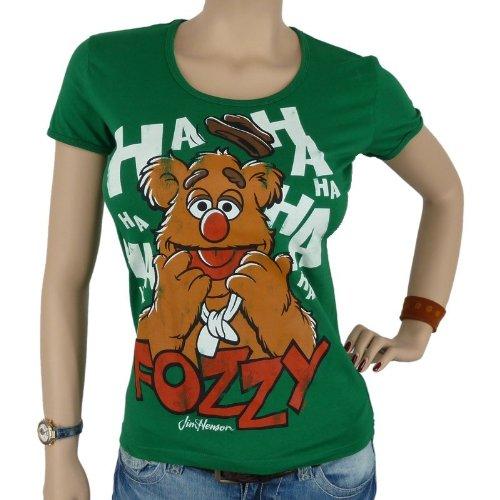 LOGOSHIRT-The Muppets Faces Fozzy Girlie Shirt, Green, Donna, LOGOSHIRT - THE MUPPETS - FACES FOZZIE Girlie Shirt, Größe S, verde, S