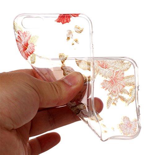 Cover iPhone 6S,RUIST Custodia Shock-Absorption Bumper e Anti-Scratch TPU Silicone Gel Gomma Ultra Sottile Polvere dargento Flash Protettiva Shell Case Cover per Apple iPhone 6 / 6S (4,7 Pollice) - D Azalea