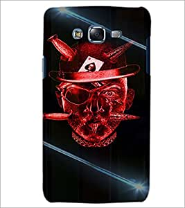 PrintDhaba Devil Skull D-5855 Back Case Cover for SAMSUNG GALAXY ON 7 (Multi-Coloured)
