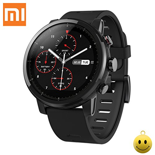 Xiaomi Huami Amazfit Sports Smartwatch Stratos 2 PPG GPS Heart Rate Monitor 5ATM waterproof Bluetooth music play Black English version