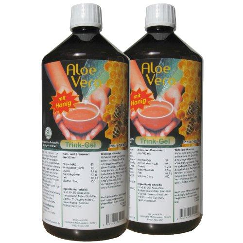 Aloe Vera Trink-Gel, mit Honig, 2x1000ml Sparpack #30011