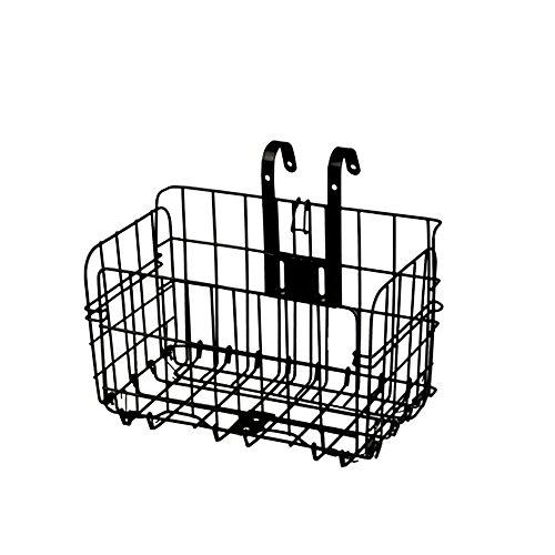 Schwarz Einstellbarer Aluminium Fahrradkorb, Wire Mesh Fold-Up Abheben Vorne Hinten Bike Fahrradkorb Quick Release, 33lb (15kg) Kapazität
