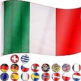 FLAGMASTER Bandiera della Nazione Calcio Italia 120x80cm