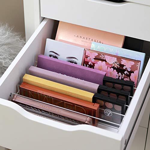 TidyUps DIVIDERS for PALETTES | Trennstege-Set als Schubladeneinsatz für IKEA Alex 6 oder 9 | Kosmetik Organizer für Paletten aus Acryl (42cm)