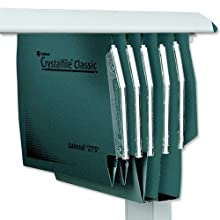 Rexel 71762 Crystalfile Classic 275 Lateral Suspension File, Manilla 50 mm 500 Sheet Capacity,, Pack of 50, Green