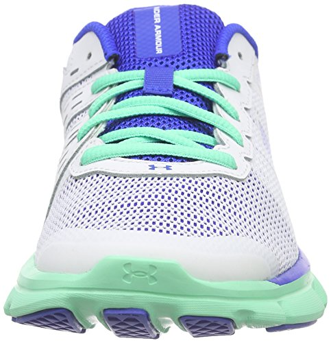 Under Armour UA W Micro G Speed Swift, Chaussures de Course Femme, Gris, UK Blanc - Weiß (WHT/ANF/UBL 100)