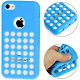 iPhone 5C Case Etui Coque en gel silicone souple Housse Apple - BLEU -