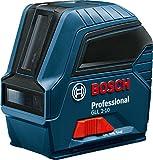 Bosch Professional 0601063L00 Linienlaser GLL 2-10, Reichweite 10 m in Schutztasche