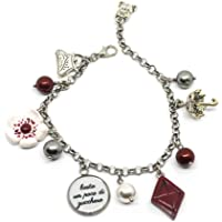 Bracciale catena acciaio Mary Poppins inspired con charms