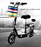 Wheelchair Folding Electric Kick Scooter for Adult Female Small Mobility Travel Ultra-Lightweight Battery Car Scooters,White,25~30Km,Black,45~55KM