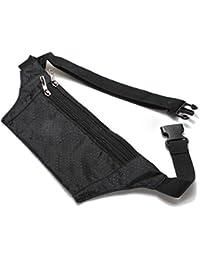 TOOGOO(R) Uni Bum Waist Bag Handy Travel Sport Fanny Money Wallet Pack Belt Zip Pouch - Black