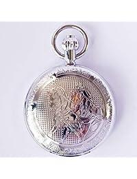 Caballo de cobre de metal con éxito automático reloj de bolsillo mecánico conmemorativo tabla colgante hombres y mujeres espesor de almeja retro: 13 mm diámetro de la esfera: 48 mm