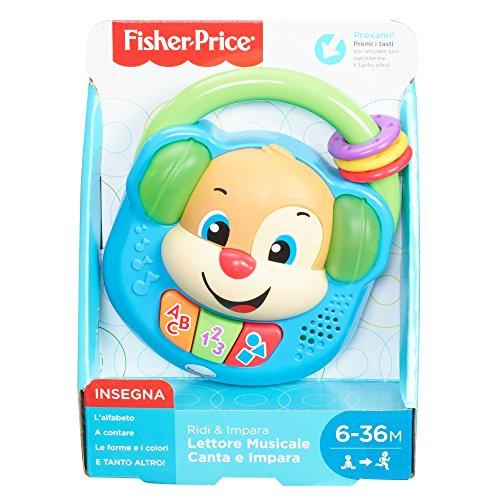 Fisher Price Lettore Musicale Canta e Impara Giocattolo Elettronico Ridi 6 36 Mesi FPV06