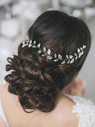 2x Haarspange Haarschmuck Schmuck Hochzeit Verlobung Feder Haarspange silber