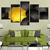 Modular Modern Canvas Painting HD Prints Home Decoration 5 Pieces Wall Art Umbrella Pictures Artwork Kids Room Poster Framework_40x100cm