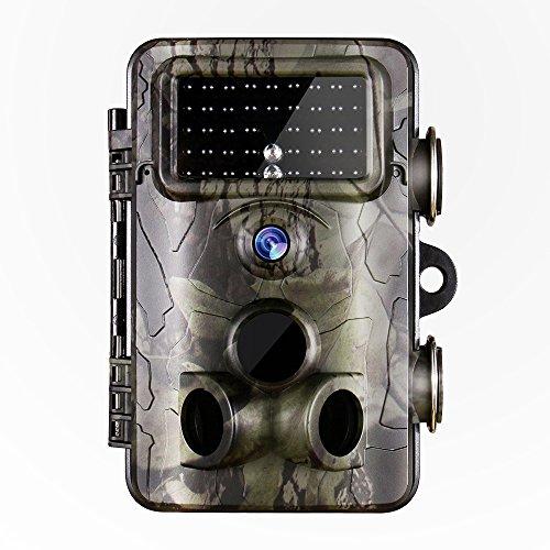 "Gosira Wildkamera Fotofalle 12MP 1080P Full HD Jagdkamera Low Glow Infrarot 42 IR LEDs 20m Nachtsicht Überwachungskamera Wasserdichte IP66 mit 2.4"" LCD Display Tier-Kamera Bewegungssensor 120° Weitwinkel Beutekameras"