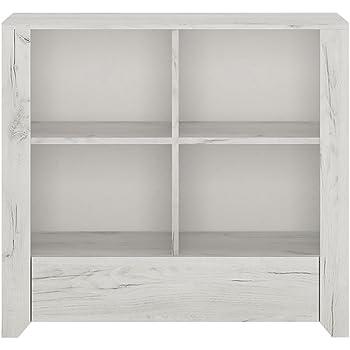 Meubles à Go Angel 1 tiroir Bibliothèque Basse, en Bois, chêne Blanc ...
