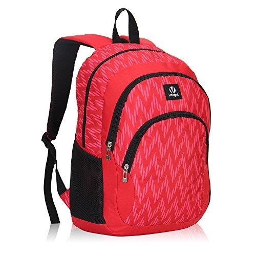 Imagen de veevan school bags  para niños  para universitarios  para portátil para niñas rojo alternativa