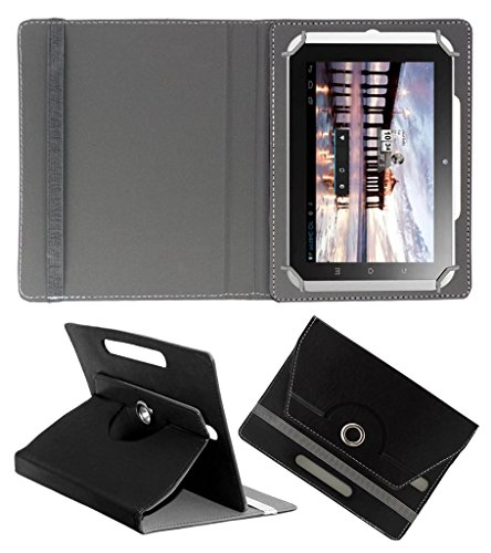 Acm Rotating 360° Leather Flip Case For Hcl Me Y2 Tablet Cover Stand Black  available at amazon for Rs.149