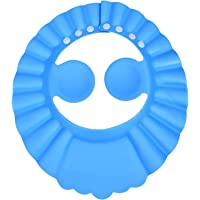 Fun Homes Soft EVA Foam Adjustable Baby Shower Bathing Protection Cap (Blue)-HS_38_FUNH21342, Standard