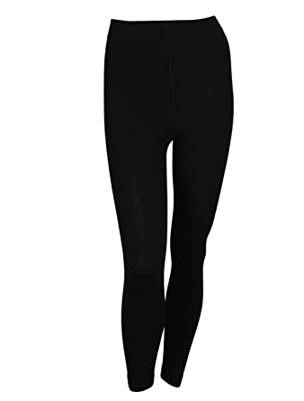 sourcingmap® Ladies Winter Wear Fleece Inner Casual Leggings Black ...