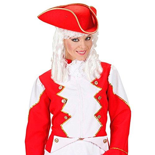 Piratenhut Funken Dreispitz Hut rot Tänzerin Karnevalshut Uniform Kopfbedeckung Funkenmariechen...