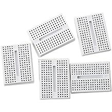 TOOGOO(R) 5x ZY-170 Mini Solderless Prototype Breadboard for Arduino Shield White