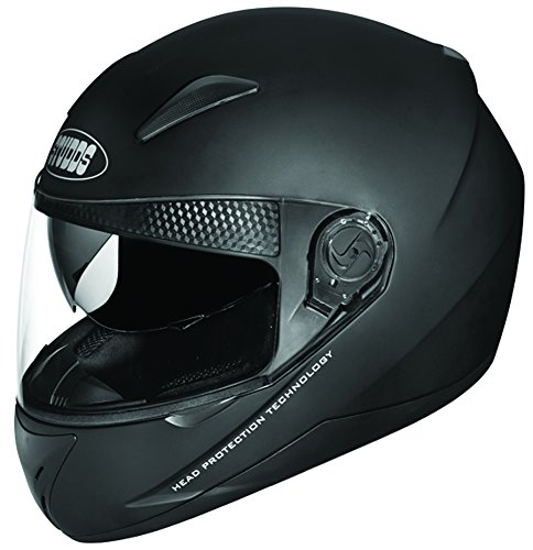 Studds Shifter Full Face Helmet (Matt Black, L)