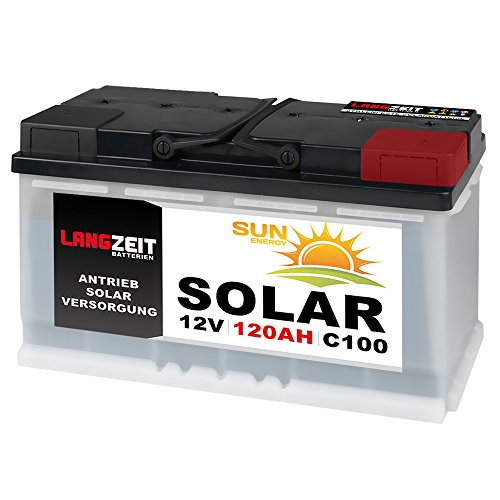 Solarbatterie 120Ah 12V Wohnmobil Boot Wohnwagen Camping Schiff Batterie Solar 100Ah
