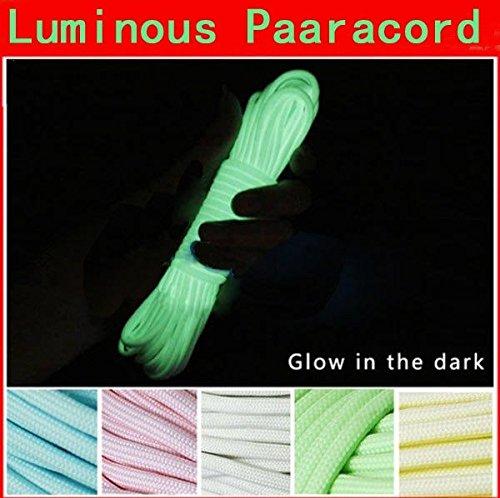 Bazaar 10ft 3m lumineuse lueur nylon paracord parachute corde cordon multifonction pour l'extérieur