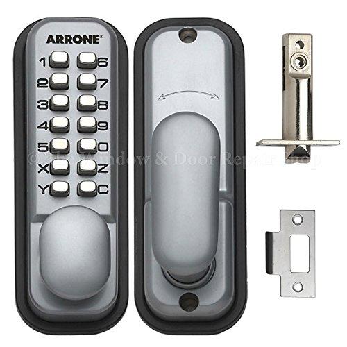 hoppe-87128205-arrone-ar-d-195mc-digital-push-button-door-key-pad-lock-silver
