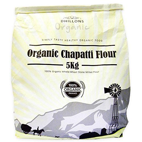 Dhillons Organic - Organic Chapatti Flour (Organic Whole-Wheat Flour) - Stone Milled - 5kg Test