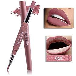 Gusspower 8 colores doble cabeza impermeable Lápiz Delineador de labios de larga duración Lip Liner Herramientas del maquillaje (F)