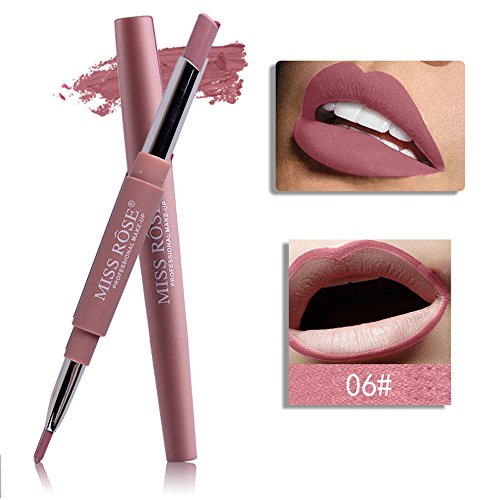KItipeng Cenlang Lip Liners -Long Last Dual Head Lip Liner,Matte Lip Lipstick Pencil Makeup,Double-End Lasting Lipliner-Waterproof Lip Liner Stick Pencil,8 Color 16g - Prestige Dual-head