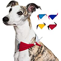 Dognsug Dog Bandana Cooling Pet Scarf Neckerchief Bib Collar - Small Medium Large Reversible World Cup Red & White Yellow Blue Orange Pink Purple Designer