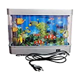 Exquisite Special Beautiful Home Decor Table Top Night Lamp Revolving Attractive Fish Aquarium Specially For Children's Room Gift Item by eRunners
