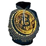 Kapuzenpullover,Hooded Männer und Frauen Lustige Bitcoin Sweatshirt Street Costume Harajuku Large Zipper Coat Top