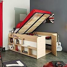 Kinderbett mit stauraum  Suchergebnis auf Amazon.de für: bett stauraum