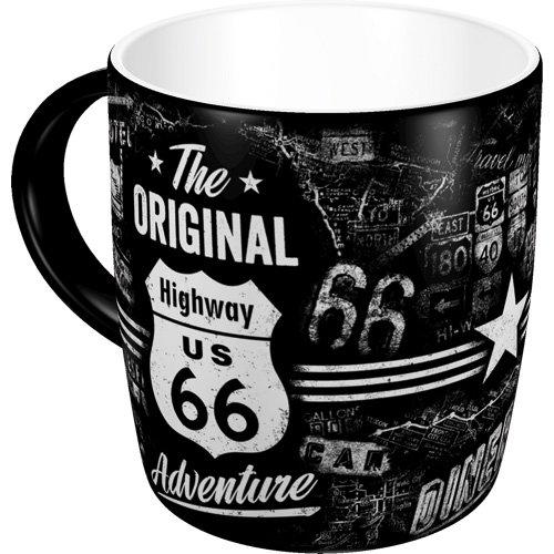 Nostalgic-Art 43012 - Highway 66 The Original Adventure | Retro Tasse | Kaffee-Becher | Geschenk-Tasse | Vintage Geschirr