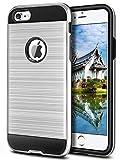 Vunake iPhone 6 Hülle, iPhone 6S Hülle,Carbon Texture Stoßfest Flexible TPU Handyhülle 2 in 1 Dauerhaft Cover Case für iPhone 6 / iPhone 6s-Silber
