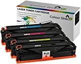 Full Set Colour Direct Compatible Toner Cartridges Replacement For Dell 1250c 1350cnw 1355cn 1355cnw C1760 C1760nw C1765 C1765nfw Printers