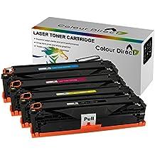TN245 Lot de 4 cartouches de Toner ColourDirect (BK/C/M/Y) remplacement pour Brother DCP-9020 CDW/3140 CW, 3150 CDW, 3170 CDW, MFC-9130 CW 9140 CDN/9330 CDW/9340 CDW
