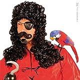Widmann - Pe635 - Set Perruque Pirate Avec Bouc et Moustaches