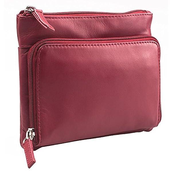ef59cf31969 Ofertas para comprar online Bolso bandolera Visconti (Atlantic - con correa  ajustable para mujer - Cuero auténtico - Pequeño -   01684 - Rojo)
